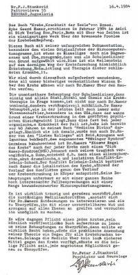 19840416 stankovic erklaerung