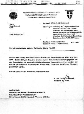 19951109 dr urbanek an bohusch orf zustimmung zu aufnahmen