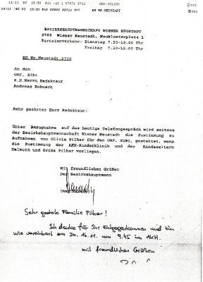 19951114 marady an bohusch orf zustimmung zu aufnahmen