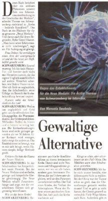 20011125 kleinezeitung schwarzenberg 1