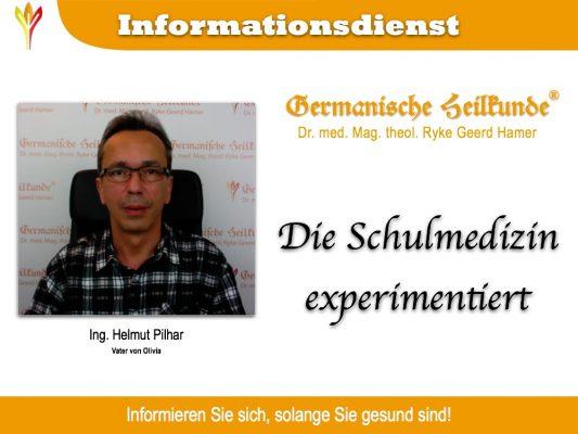 20151103 helmut pilhar schulmedizin experimentiert