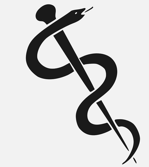 symbol medizin stab schlange