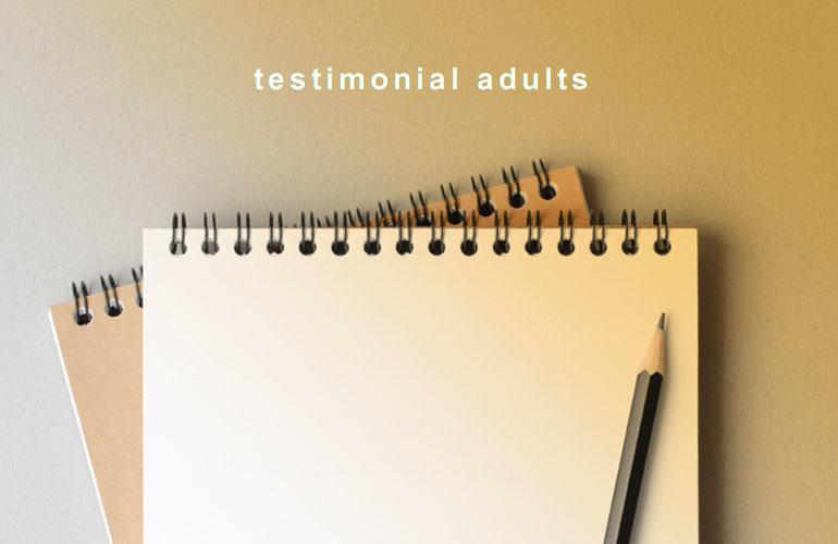 testimonial adults