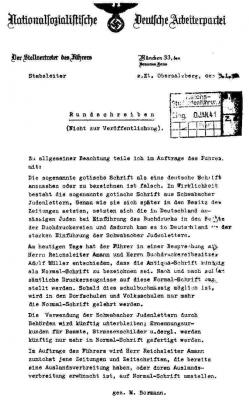 dokument bormann frakturschrift